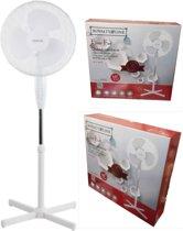 Staande ventilator 40 cm |In hoogte verstelbaar | Beschermrooster van metaal.