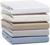 Doubel Jersey ™ - Hoeslaken Flanel Jersey 100% Katoen Extra Zacht En Warm -160X200 Cm - Wit