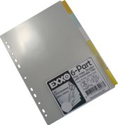 EXXO-HFP # 93006 - A4 Tabbladen - 6 Venstertabs - Standaard breedte 210/225mm - 2 sets