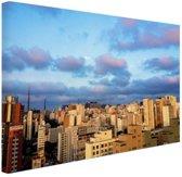 Wolkenkrabbers Sao Paulo Canvas 80x60 cm - Foto print op Canvas schilderij (Wanddecoratie)