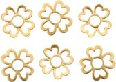 onderdelen 6pcs goudkleurig in de vorm van een bloem