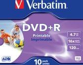 Verbatim 43508 DVD+R Wide Inkjet Printable ID Brand Schijven
