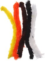 Eddy Toys Chenilledraad Wit/zwart/oranje/geel 30 Cm 5 Stuks
