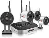 YubiX 1080P Wi-Fi bewakingscamera set met 4 camera's Plug and Play met geluidsopname + 1000GB harde schijf