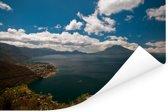 Panoramisch uitzicht op het Noord-Amerikaanse meer van Atitlán in Guatemala Poster 180x120 cm - Foto print op Poster (wanddecoratie woonkamer / slaapkamer) XXL / Groot formaat!