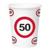 Paper Cups 350ml Traffic Sign 50