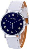 Fako Bijoux® - Horloge - Geneva Blue - Wit