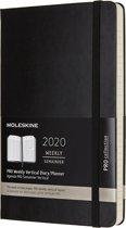 Moleskine 12 Maanden Agenda 2020 - Wekelijks - Large (13x21cm)  - Zwart - Harde kaft