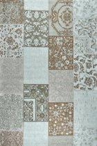 Vintage patch - tapijt of vloerkleed - Dounia turquoise - katoen - 290x200cm