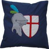 Taftan - sierkussen ridder - 50 x 50 cm  - donker blauw