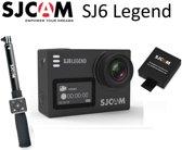 SJCAM SJ6 Legend Zwart 4k Action Camera inclusief SJCAM Selfie Stick, Remote Control en extra accu