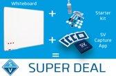 Smit Visual whiteboard 90x120cm emaille met gratis capture kit en accessoires