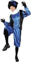 Piet velours blauw/zwart (mt XL)