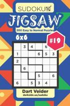 Sudoku Jigsaw - 200 Easy to Normal Puzzles 6x6 (Volume 19)