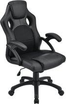 Luxe Design Bureaustoel - Gaming / Kantoor Bureaustoel - Ademend Materiaal - Zwart