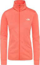 The North Face Women's Quest Full Zip Midlayer Vest Dames - Radiant Orange White Heather - Maat M