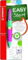 STABILO EASYergo 1.4 mm Vulpotlood Linkshandig - Turquoise/Neon Roze