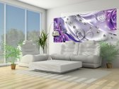 Silver | Violet Photomural, wallcovering