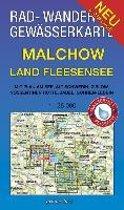 Malchow - Land Fleesensee 1 : 35 000 Rad-, Wander- und Gewässerkarte