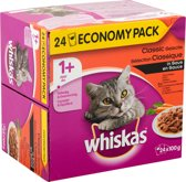 Whiskas Multi Pack Pouch - Vlees Selectie Groenten in Saus - kattenvoer - 24 x 100 g