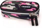 El Charro - Etui Ovaal - Camouflage - Roze - 21 cm