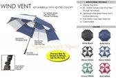 Bagboy Telescopic Windvent Paraplu zwart blauw