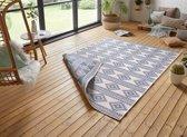 Design binnen & buiten vloerkleed Maple - blauw/crème 160x230 cm