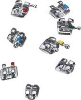 200 stks / 10-pack mini metalen tandheelkundige orthodontische beugels