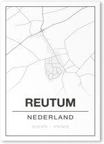 Poster/plattegrond REUTUM - A4