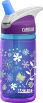 Camelbak Eddy Kids Insulated Drinkfles - 400 ML - Purple Flowers