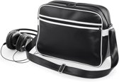Bagbase Original Retro Schoudertas Black/White 13 liter