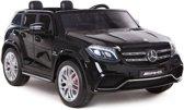 "Kinderwagen - Elektrische auto ""Mercedes GLS63 AMG"" - Licentie - 2x 12V7AH batterij, 4 motoren - 2.4 Ghz afstandsbediening, MP3 + EVA + lederen zitting"