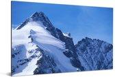 De Oostenrijkse Grossglockner met bergen in Europa Aluminium 90x60 cm - Foto print op Aluminium (metaal wanddecoratie)