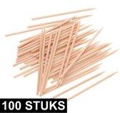 100x knutselhoutjes hobby spiesjes 30 cm - Knutselmateriaal - Knutselen - Houten stokjes