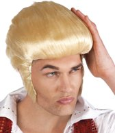 6 stuks: Pruik Rock and Roll DeLuxe - blond