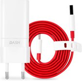 Oneplus Dash Adapter Fast Charger - 5V 4A Thuislader / Stekker +  Dash Charge USB C - Type C Kabel geschikt voor o.a 3 /
