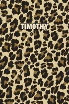 Timothy: Personalized Notebook - Leopard Print Notebook (Animal Pattern). Blank College Ruled (Lined) Journal for Notes, Journa