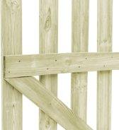 vidaXL Poorten 2 st 150x100 cm FSC geïmpregneerd grenenhout