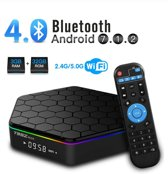 DrPhone T95Z Plus - TV Box T95Z Plus Android 7.1.2 TV Box 3G+32G Amlogic S912 Octa-Core, 2.4/5.8G Dual-Band Wi-Fi/10-1000M LAN 64Bit- BT4.0 H.265 UHD 4K Android Box- LED - Zwart
