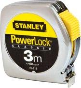 Stanley Rolbandmaat Powerlock 3m 12 7mm metaal