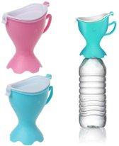 Onderweg Plassen - Kinderen - Draagbare Urinaal - Voor Onderweg en op Reis - Veilig en Gemakkelijk Schoon - Roze