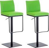 Clp Panama - Set van 2 barkrukken - Kunstleer - Groen Zwart