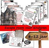 Escape Room voor kinderen - Het verlaten huis - kinderfeestje  - breinbreker - 8 t/m 12 jaar - compleet draaiboek - print zelf uit!