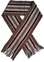 Sjaal - bruin-ecru - streep