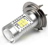 H7 LED 21 SMD lamp helder wit met lens