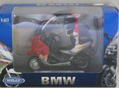 BMW C1 1:18 Welly Rood / Grijs B19660-PW