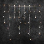 Konstsmide 2725 - Snoerverlichting - 200 lamps pizello iciclesnoer - 500 cm - 24V - voor buiten - warmwit