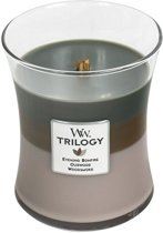 Woodwick Candle Trilogy Medium Cozy Cabin