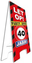Warning Sign Party Zone 40 Jaar!