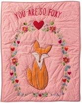 Quilt 80x100 I am so foxy borduur